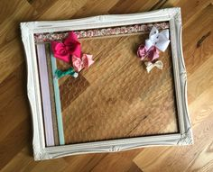 Hair Bow Holder, Nursery Wall Decor, Large Hairbow Holder, Hair Bow Board, Headband Holder, HairClip Holder, Bow Organizer, Frame by GraceandJewelsBow on Etsy https://www.etsy.com/listing/294502517/hair-bow-holder-nursery-wall-decor-large