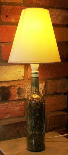 wine bottle into a cool lamp