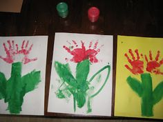 Tulip Hand Prints for Mother's Day