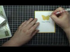 Stampin' Up! Backyard Basic Butterfly Window Card - YouTube