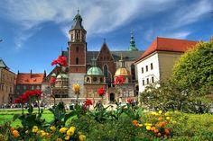 Famous Wawel Castle in Krakow Poland