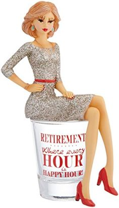 Hiccup by H2Z 73704 Retirement Girl in Shot Glass 534Inch High *** Check out the image by visiting the link.
