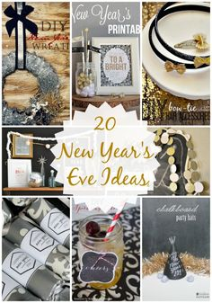 New years eve ideas - http://www.iheartnaptime.net/20-new-years-eve-ideas-link-party-features/