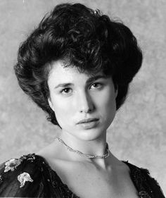 """Press photo of Andie MacDowell for the 1984 movie """"Greystoke: The Legend Of Tarzan""""."""