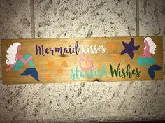 A personal favorite from my Etsy shop https://www.etsy.com/listing/500993981/mermaid-kisses-and-starfish-wishes