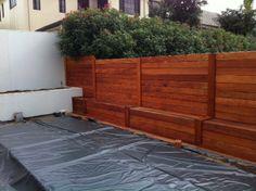 Fiji Mahogany - Fence  Material available through Green World Lumber  www.greenworldlumber.com