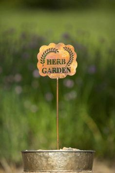 Bring attention, charm and character to your herb garden with this garden stake. Whether you're growing just basil and parsley or you've been tending to every herb under the sun, this cute little sign will make your lovely green space that much greater.  #GardenStakes #Gardenstake #plantpicks #gardening #gardenlover #gardenart Garden | Gardening | Garden Art | Garden Decor | Garden Stake Garden Stakes, Herb Garden, Garden Art, Old Farmers Almanac, New Item, Above And Beyond, Are You Happy, Herbs, Parsley