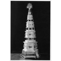 Royal Wedding Cake for Princess Elizabeth, 1947, made by Huntley & Palmers.  The icing department worked continuously for three weeks on the cake!