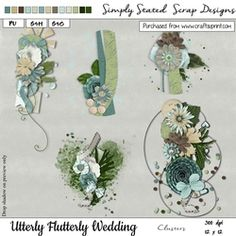 Utterly Flutterly Wedding Clusters on Craftsuprint - View Now! A4 Paper, Fabric Paper, Paper Texture, Word Art, Blue Bird, Damask, Card Stock, Scrapbook, Crafty