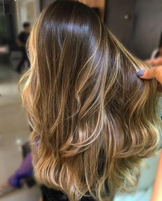 49 ideas hair color natural balayage long bobs for 2019 - Frisuren Brown Ombre Hair, Light Brown Hair, Ombre Hair Color, Hair Color Balayage, Tiger Eye Hair Color, Natural Ombre Hair, Tiger Hair, Bayalage, Cabelo Ombre Hair