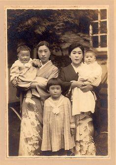 Vintage Japanese women and children by sctatepdx, via Flickr
