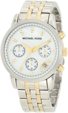 Michael Kors Two-Tone Chronograph with Stones Watch