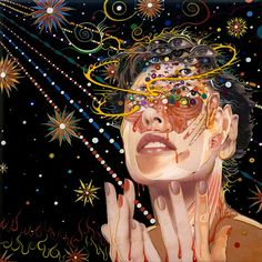 detailed paintings | fred tomaselli is best known for his highly detailed paintings on wood ...