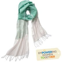 #summer scarf   Walmart: Multi Stripe Scarf Mint by Salem for Full Circle Exchange