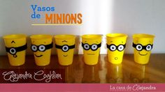 Vasos de Minions -  DIY Minions party cups