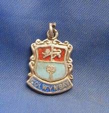 Vintage Sterling Silver & Enamel Travel Shield Charm COLWYNBAY Wales