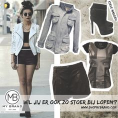 How to wear the leather short!