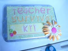 What a great idea for your kids' teachers!  This could be decorated and modified for a teacher Christmas gift, too.  As the wife of a teacher, I can tell you that those little gifts mean a lot to teachers, and this one is particularly thoughtful!  Teacher Kit | Crafts by Friends