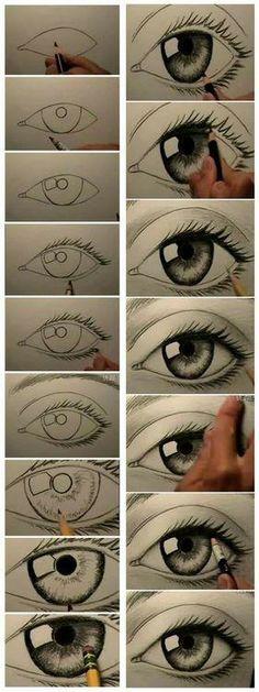 Para desenhar olhos