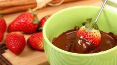 #fondue de chocolate com frutas