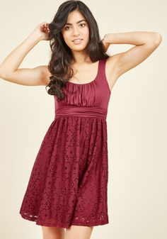 Artisan Iced Tea Lace Dress in Raspberry. This sleeveless, scoop neck dress reminds us of a cool, sweet, raspberry-infused iced tea. Lace Burgundy Dress, Floral Lace Dress, Orange Dress, Floral Dresses, Tea Dresses, Red Lace, Red A Line Dress, Dress Up, Casual Dresses