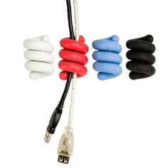 """""""Cords and cables are quickly contained with our Wire Snake Cable Organizers. These colorful spirals wrap around cords and cables to create tidy bundles. Ideal for use with your home office or home entertainment system equipment."""" $10/2"""