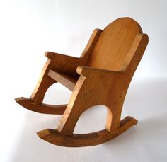 Childrens Wooden Rocking Chair Solid Maple Wood Rocker Amish