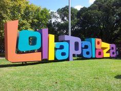 Lollapalooza Argentina 2014 Entrance Signage, Directional Signage, Exterior Signage, Outdoor Signage, Wayfinding Signage, Signage Design, Park Signage, Lollapalooza, Pylon Sign