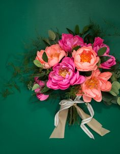 Appetite Paper   How to Make Paper Flowers - Paper Peony Bouquet!