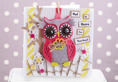 How to Make an Owl Card; perfect for saying thank you-hoo! #cardmaking #papercraft #docrafts
