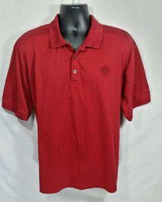 Donald J Trump Signature Collection Deep Red Polo Shirt Pima Cotton Sz XL…