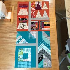 """""""Wow.... That blue block took me a looong time!  2 done, 23 to go! #PatchworkCity #sewmystash2015"""""""