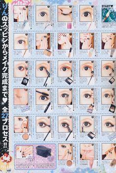 gyaru eye make up
