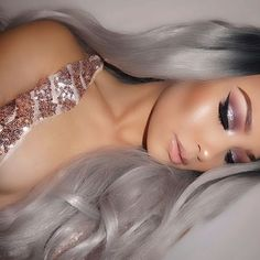 Pinterest: @ blvckswede Sexy Makeup, Full Face Makeup, Makeup On Fleek, Glam Makeup, Flawless Makeup, Glitter Makeup, Kiss Makeup, Pretty Makeup, Gorgeous Makeup