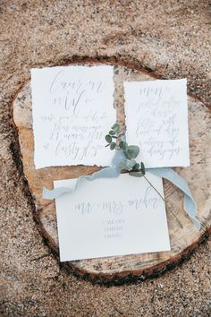 Lusty Glaze Wedding Beach Fine Art Calligraphy