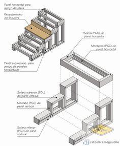 Metal Stud Framing, Steel Framing, Steel Frame House, Steel House, Drywall, Steel Stairs, Recording Studio Design, Steel Frame Construction, Stair Lighting