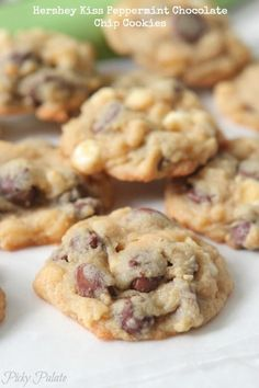 Hershey Kiss Peppermint Chocolate Chip Cookies, perfect for gift giving!