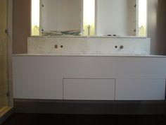 Contemporary vanity I built.