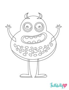 Monster Coloring Pages Free Printables Free printable coloring