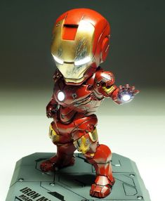 I want one of these on my desk. Baby Marvel, Chibi Marvel, Marvel Cartoons, Ironman, Spiderman Art, Something Old, Cool Wallpaper, Pikachu, Superhero