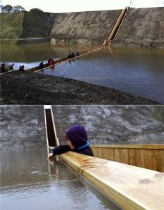 The Moses Bridge near Fort de Roovere in the Netherlands