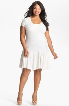 A.B.S. by Allen Schwartz Textured Drop Waist Dress (Plus Size) (Online Only) available at #Nordstrom
