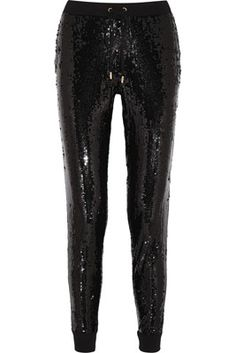 Michael by Michael Kors Sequined Jersey Track Pants