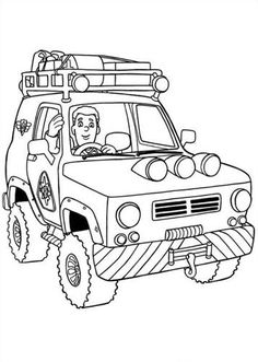 75 Fireman Sam printable coloring pages for kids. Find on coloring-book thousands of coloring pages. Online Coloring Pages, Colouring Pages, Printable Coloring Pages, Coloring Pages For Kids, Coloring Sheets, Adult Coloring, Coloring Books, Fireman Birthday, Firefighters