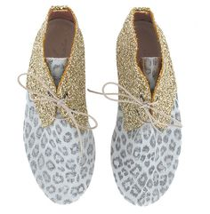 Anniel Lichtblauw Leopard Glitters Goud Hoog