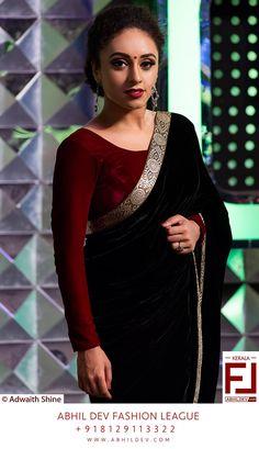 Abhil Dev fashion Trendy Sarees, Stylish Sarees, Fashion Designer, Indian Designer Wear, Designer Dresses, Mix Match, Silk Saree Blouse Designs, Silk Sarees, Sari Dress