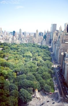 Nice view of Central Park entrance at Columbus Circle and of New...