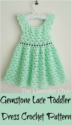 Crochet Patterns For Spring,Gemstone Lace Toddler Dress Crochet Pattern-This list with superb crochet patterns for spring will really prove so easy and quick to make. This will prove really beneficial for experts but also for beginners too. Crochet Toddler Dress, Baby Girl Crochet, Crochet Baby Clothes, Crochet For Kids, Crochet Baby Dress Free Pattern, Crochet Patterns, Crochet Jacket, Knit Crochet, Crochet Spring Dresses