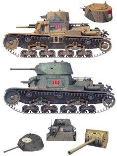 """""""M 11/39 Comando Carri Armati della Libia, Egypt, September 1940 & M 13/40 XXI Battaglione Carri, Libya, Janiary 1941""""   Richard Chasemore"""