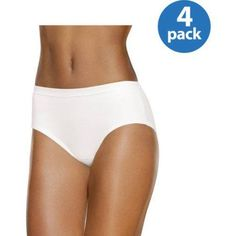 Fruit of the Loom Ladies' 4pk Breathable Low Rise Brief, Women's, Size: 8, Assorted